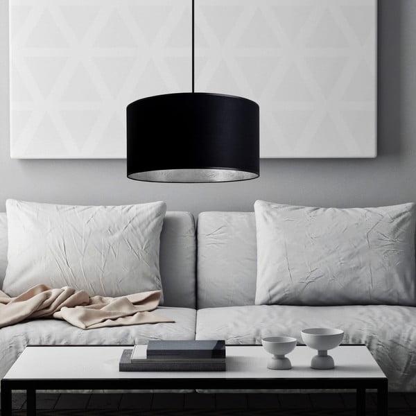 Lampa wisząca Tres, srebrno-czarna, średnica 36 cm
