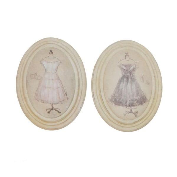 Zestaw 2 obrazków Antic Line Vintage Dress