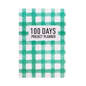 Organizer Languo 100 Days Pattern, zielony