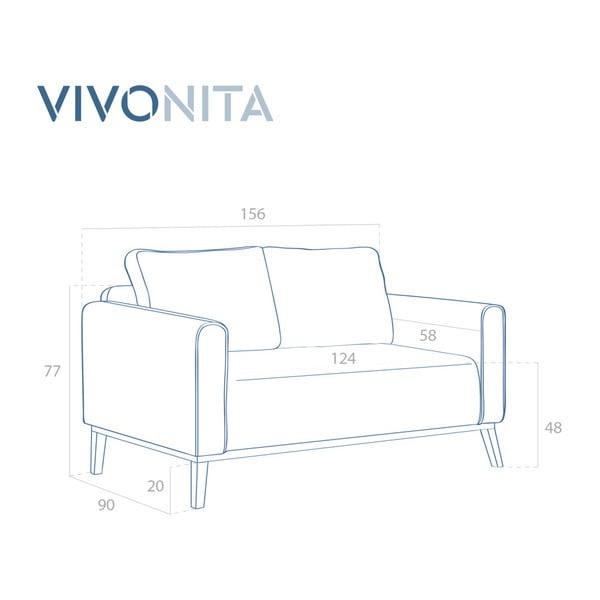 Jasnobrązowa sofa 2-osobowa Vivonita Milton
