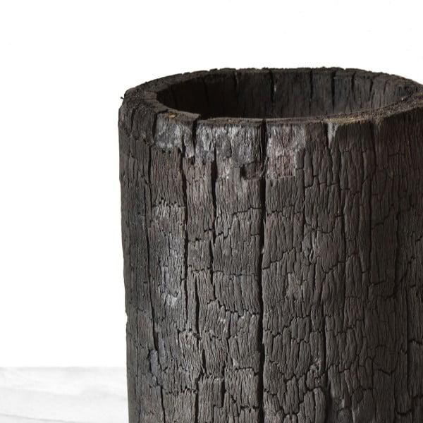 Wypalana palmowa doniczka Wooden