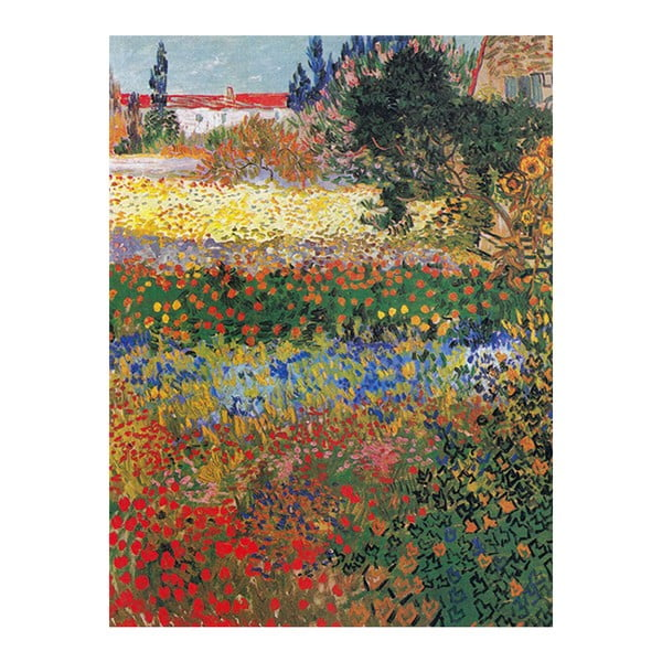 Obraz Vincenta van Gogha - Flower garden, 60x80 cm