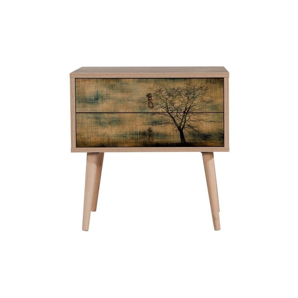 Drewniana szafka nocna Iris Tree