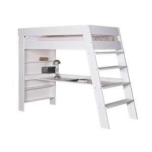 Łóżko piętrowe z biurkiem Julien White