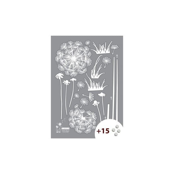 Naklejka z 15 kryształami Swarovski Ambiance Dandelion Flowers