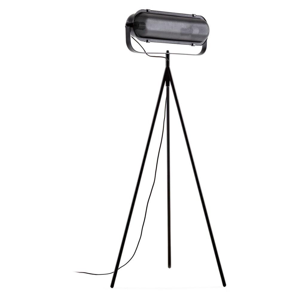 Czarna lampa stojąca La Forma Arete, wys. 54 cm