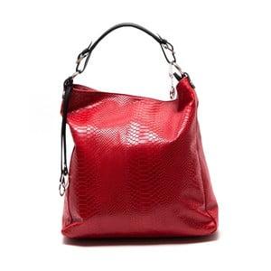 Skórzana torebka Clair, czerwona