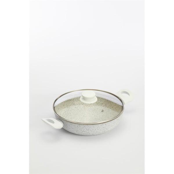 Patelnia Stonewhite z pokrywką i białymi uchwytami, 24 cm/2.36 l
