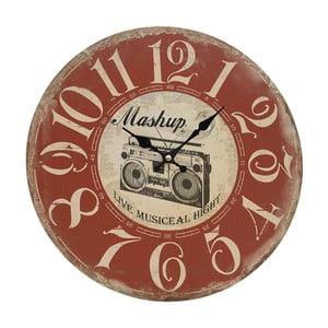 Zegar ścienny Red Vintage, 34 cm
