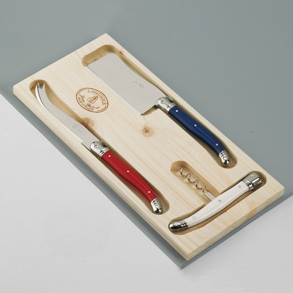Zestaw 2 noży do sera i korkociągu  Jean Dubost Paris