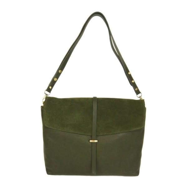 Skórzana torebka Ella, leśna zieleń