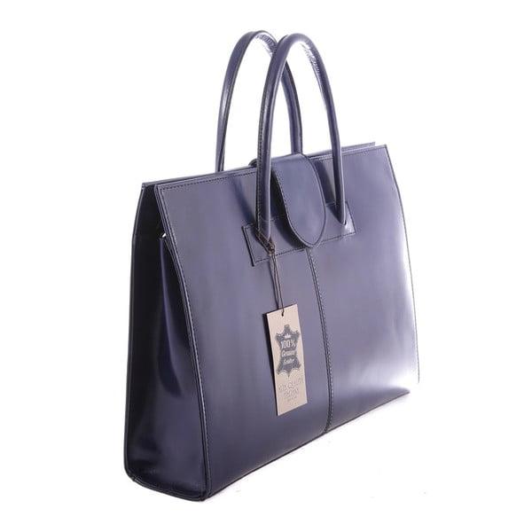 Niebieska torba skórzana Paola
