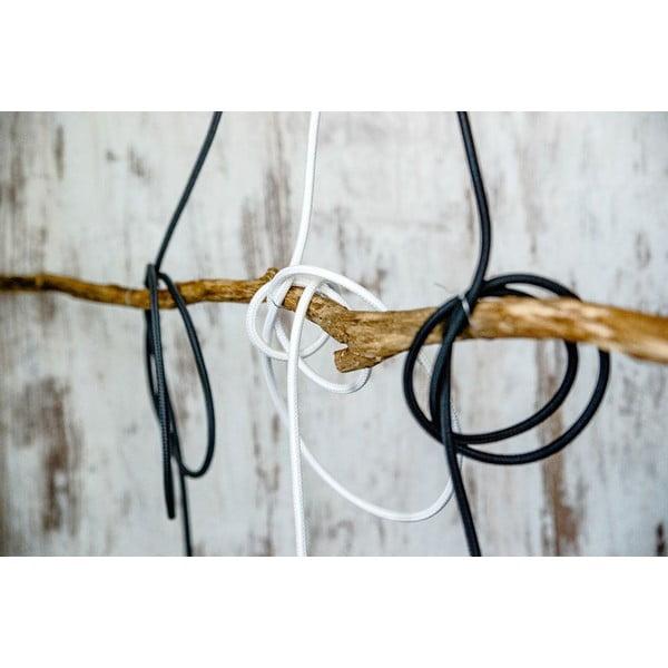 Kolorowy kabel Loft Metal z żarówką, biały bez