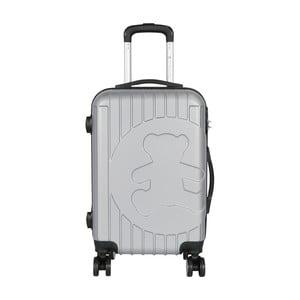 Jasnoszara walizka podręczna LULU CASTAGNETTE Philip, 44l