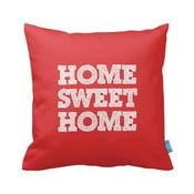 Czerwona poszewka na poduszkę Home Sweet Home, 43x43cm