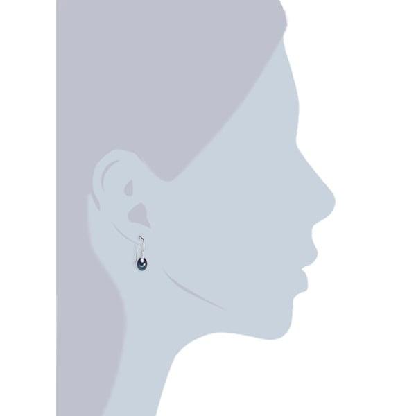 Niebieskie   perłowe kolczyki w kształcie łzy Chakra Pearls