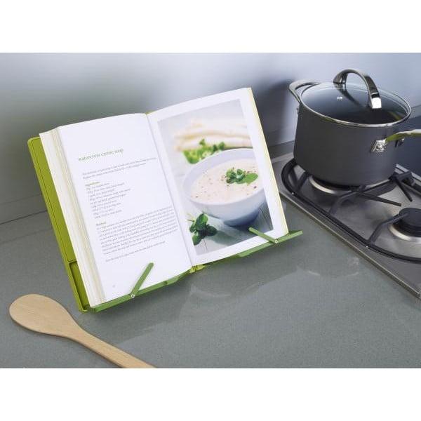 Zielony stojak składany na książkę kucharską Joseph Joseph CookBook