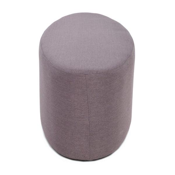 Materiałowy taboret Lilac Grey