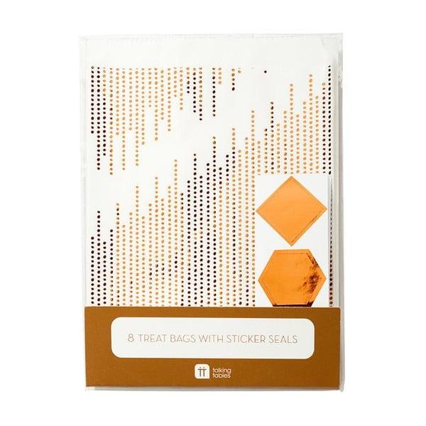 Zestaw 8 papierowych torebek Talking Tables Treat Copper