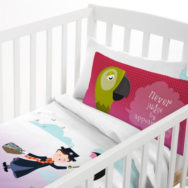 Bawełniana pościel dziecięca z poszewką na poduszkę Mr. Fox Spit Spot, 100x120 cm