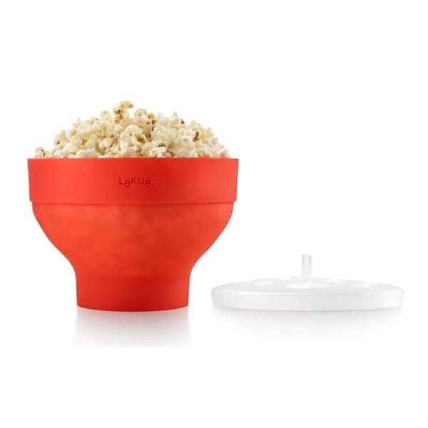 Silikonowa miska na popcorn, czerwona