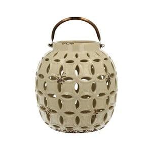 Kremowy lampion ceramiczny Duo Gift, wys. 17,8 cm