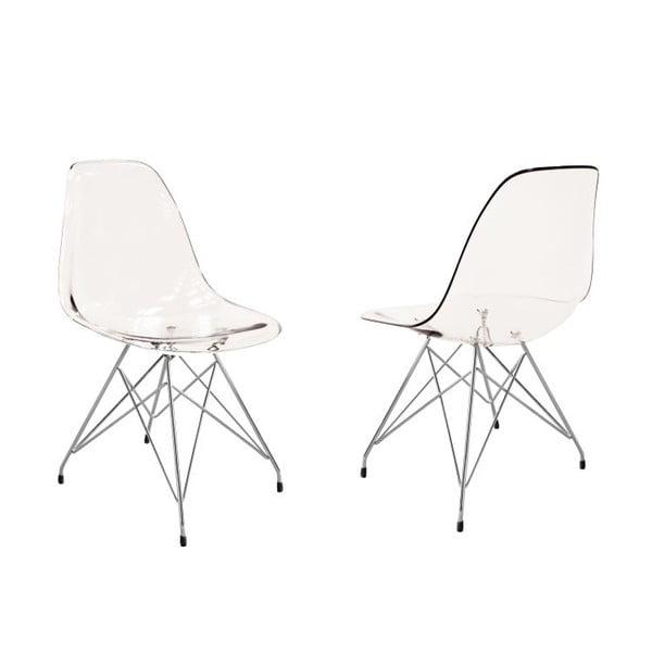 Przezroczyste krzesło Canett Crystal