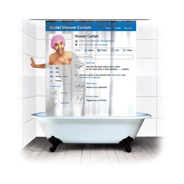 Zasłona prysznicowa Social Shower Curtain