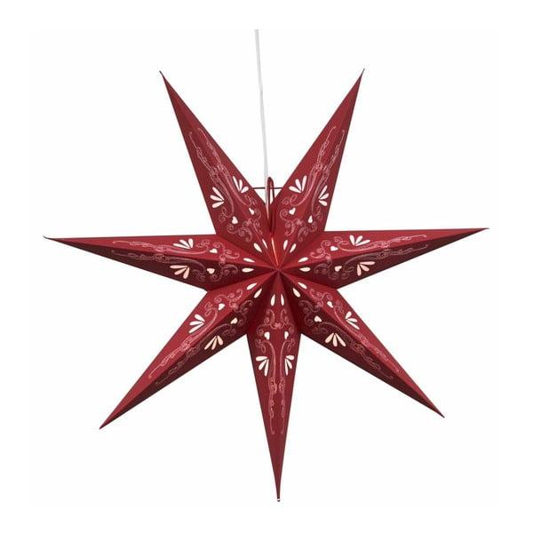 Świecąca gwiazda ze stojakiem Metasol Red, 70 cm