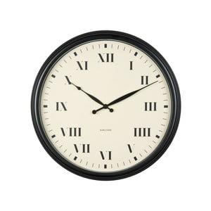 Czarny zegar ścienny Present Time Old Times, duży
