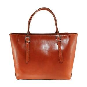 Karmelowa skórzana torebka Tami