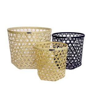 Komplet 3 koszyków bambusowych Natural