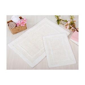 Zestaw 2 kremowych dywaników łazienkowych Irya Home Superior, 60x100 cm i 40x60 cm