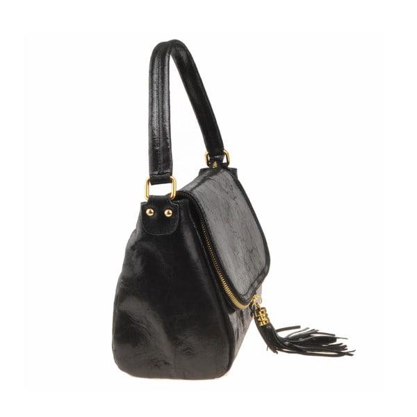 Skórzana torebka Diadema, czarna