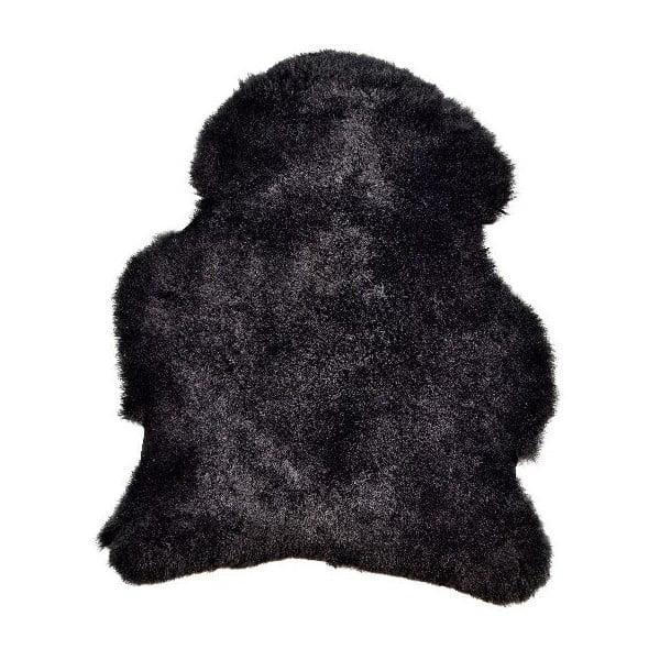 Czarna skóra owcza z krótkim włosiem, 90x60 cm