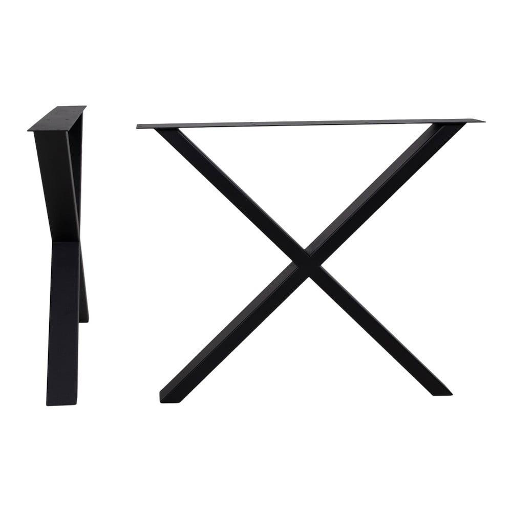 Czarne stalowe nogi do stołu House Nordic Nimes, dł. 86 cm