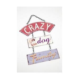 Vintage tablica Crazy Dog