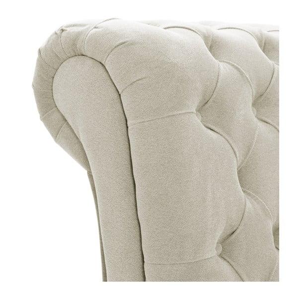 Kremowe łóżko z naturalnymi nóżkami Vivonita Allon, 180x200 cm