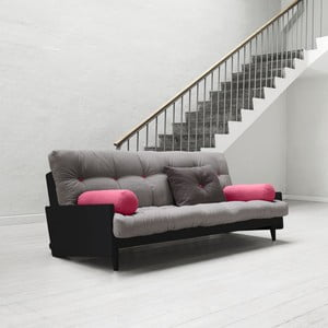 Sofa rozkładana Karup Indie Black/Gris/Light Bordeaux
