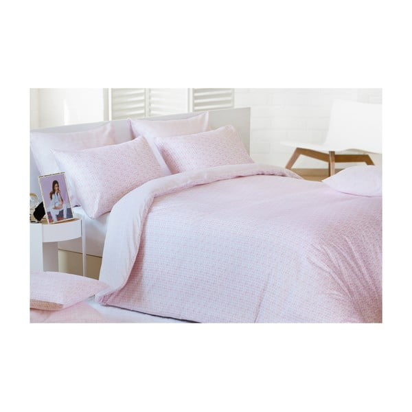 Pościel Blocks Pink, 140x200 cm