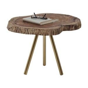 Stolik z blatem z drewna mangowca Kare Design Macchia