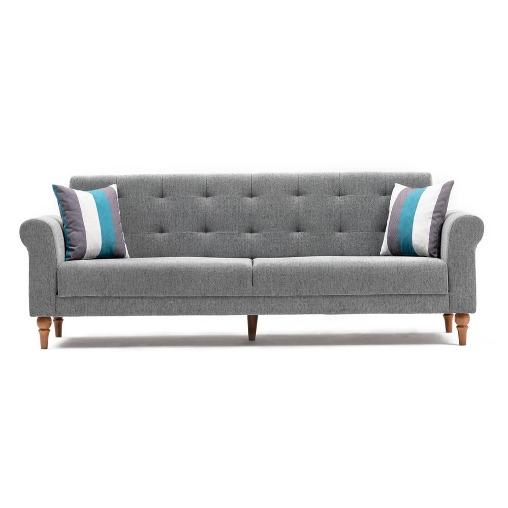 Szara sofa rozkładana Balcab Home Gina