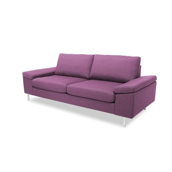 Różowa sofa trzyosobowa VIVONITA Nathan