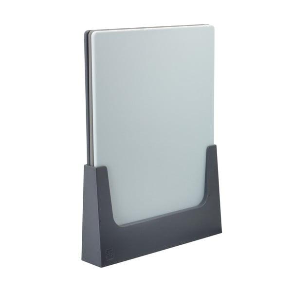 Komplet desek ze stojakiem Rig-Tig, szaroniebieski