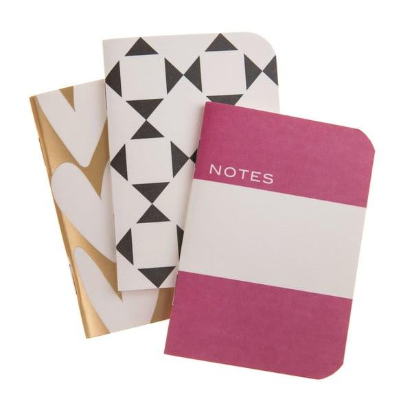 Zestaw 3 zeszycików Notes