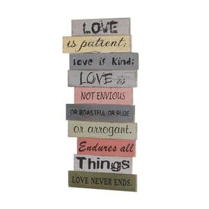 Dekoracja ścienna Mendler Shabby Love Is Patient