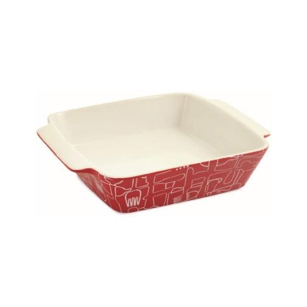 Ceramiczne naczynie do zapiekania Red Teglia Quadra