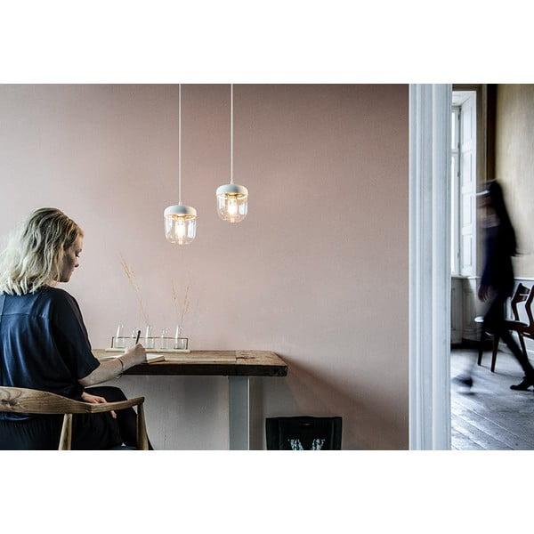 Biały klosz z krawędzią w kolorze złota VITA Copenhagen Acorn, ⌀14cm
