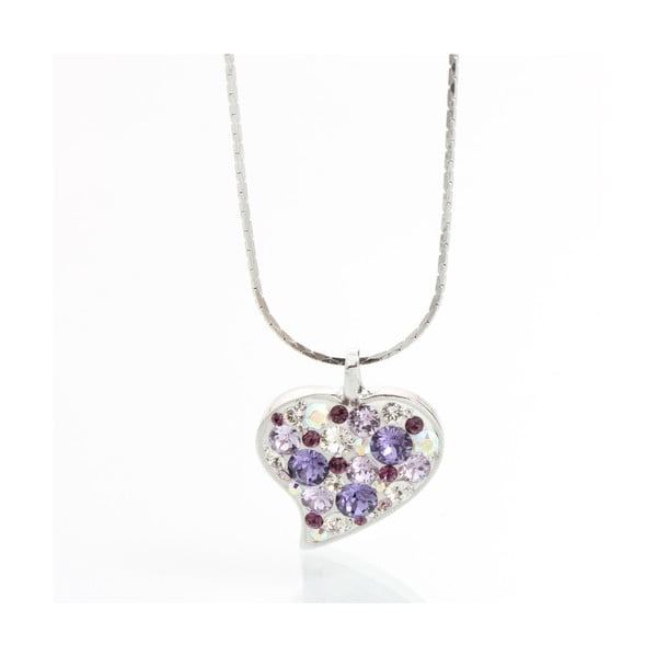 Naszyjnik Laura Bruni Swarovski Elements Heart Violet
