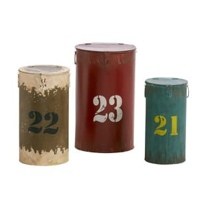 Komplet 3 pojemników Metalholder